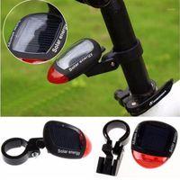 자전거 조명 LED 자전거 사이클링 램프에 대 한 후방 깜박임 꼬리 빛 안전 경고 액세서리 Solar Powered1