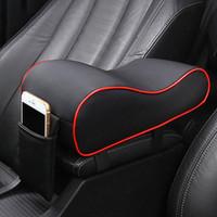Lederauto Central Armlehne Pad Universal Auto Center Konsole Arm Rest Sitzbox Matte Kissen Kissenbezug Fahrzeug Auto Styling
