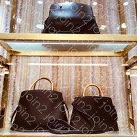 Borse di design di design di lusso sac montaigne GM mm mm bb moda womens business tote borse borse a croce spallago maniglia borsa iconica marrone impermeabile canvas m41056