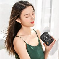 Electric Fans Portable Mini Camera Fan USB Rechargeable Hanging Neck Waist Small Air Conditioner LED Display Outdoor Travel Handheld