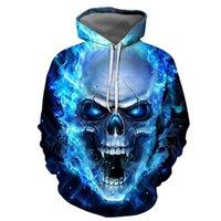 Мужские скелетные графические толстовки моды мальчики 3D цифровой пуловер с капюшоном с черепа левс шаблон унисекс осенний трекШорты оптом