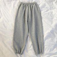 Women's Pants & Capris High-waist Casual Trousers Sweatpants Women Fall Winter Trendy Velvet Thickening Korean Style Straight-leg Slimming L