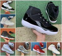 11 11 S BRED Uzay Reçeli Concord Jubilee 25th Yıldönümü Basketbol Ayakkabı En Kaliteli Erkekler Legend Mavi Kap ve Kıyafet Spor Salonu Kırmızı 72-10 Sneakers