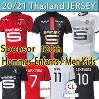 120th Anniversary 20 21 Rennes Stade Rennais FC Soccer Jerseys 2020 2021 Camavinga Guirassy Bourigeaud Kids Kits Kids Kits Football Jersey