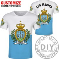 San Marino T 셔츠 DIY 무료 사용자 정의 만든 이름 번호 SMR T 셔츠 국가 플래그 SM 공화국 이탈리아 국가 텍스트 인쇄 사진 의류 X0602