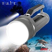 ضوء الغوص 4 * L2 السوبر مشرق LED الغوص مصباح مضاد للماء Scuba تحت الماء 200M العمل الشعلة باستخدام 2 × 26650 للمخيم