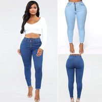 Women's Jeans Women Slim Stretch Skinny Blue Zipper Denim Pencil Pants Female Plus Size Befree Spring Autumn
