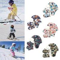 Caps & Hats Cartoon Ski Girls Boys Unisex Hat Scarf Gloves Set Winter Thick Warm Cap Women Men Soft Touch Screen Snow