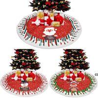 크리스마스 트리 스커트 나무 장식 매트 크리스마스 눈사람 순록 장식 홈 휴가 축제 파티 장식 DHB9130