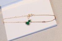V Золотая очарование кулон ожерелье и браслет с красным агатом зеленые изумрудные бриллианты для женщин свадебный подарок ювелирных изделий PS3130