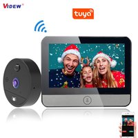 VIDEW 4.3 Tuya Peephole Door Viewer Wifi Doorbell Camera Video Intercom Motion Detection Night Vision for Home Apartment