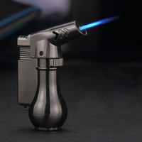 Mini Pistola a spruzzo Spray Compact Butane Jet Lighter Torch Turbo Lighter 1300 C Accendino a getto di metallo antivento Flated Accendino No Gas FedEx Liberi la nave