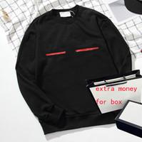 19ss Crewneck Tasarımcı Hoodie Erkekler için Mektuplar Kazak Kazaklar Kadın Kazak Katı Kış Moda Süveter Homme Streetwear M-2XL