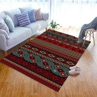 Carpets Ethnic Style Pattern Livingroom Carpet Bedroom Bedside Decor Children Mat Kids Room Hallway Large Rug Outdoor