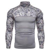T-shirts Hommes Hommes Tshirt Camouflage T-shirt T-shirt Vêtements Combat Assault Costume d'armée à manches longues