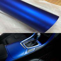 60 см / 32 см * 1 м / 2 м / 3м синий металлик Мэтт виниловая упаковка автомобиль обертка хромированная матовая виниловая пленка синий матовый кинопленок оберточная наклейка наклейки фольга