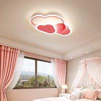 LED avize lambası çocuk odası yatak odası anaokulu kreş çocuk beyaz bulut modern tavan kısılabilir aydınlatma armatürleri R154