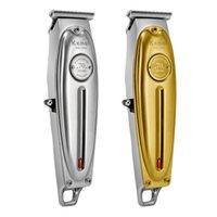 ヘアハサミ専門の電気USBコードレスメンズクリッパーキットボディグルーミングセット、すべてのメタルハウジングデザイン