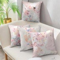 Cojín / almohada decorativa Cartoon nórdico Flor de rosa Cojín de amortiguador 45x45cm Super Soft Pillow Casa de almohada Casos de almohadas Casos Inicio