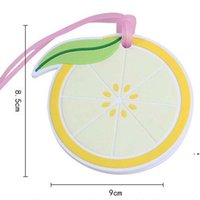 새로운 크리 에이 티브 웨딩 리턴 선물 레몬 수하물 카드 홀더 여행자 가방 액세서리 태그 실리콘 탑승 패스 EWE7251