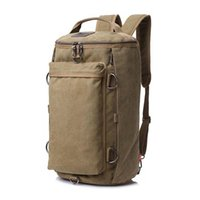 Outdoor Bags 45L Canvas Travel Backpack Military Tactical Backpacks Men Shoulders Bag Camping Hiking Trekking Mountaineering