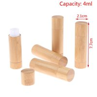 Storage Bottles & Jars 1PCS 4g 4ml Empty Natural Bamboo DIY Lipstick Lip Tube Gloss Cosmetic Container