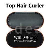 선물 상자가있는 8 개의 머리 머리 경기자 다기능 헤어 스타일링 장치 정상적인 머리를위한 자동 컬링 아이언 최고 품질 EU / UK / US / AU