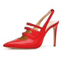 Dress Shoes LOVIRS Women Pointed Toe High Heel Stiletto 10cm Pumps Patent Leather Sexy Party Wedding Court For