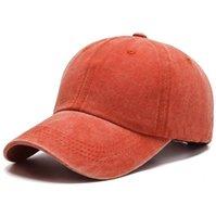 Capuchon de baseball lavé Pure Coton Solide Color Color Hat Street Casual Snapback Cap Adultes Enfants Sunscreen Sun Hat CCC5015