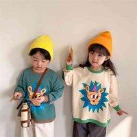 Milancel Spring детская одежда корейская девушка и мальчик с длинным рукавом мультфильм толстовки 210913