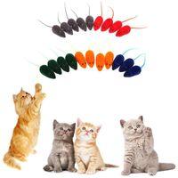 20PCS يتدفقون شكل الماوس القط اللعب الصوت كاذبة الفئران الحيوانات الأليفة هريرة