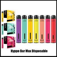 새로운 HYPPE 최대 일회용 장치 1500 퍼프 5ml 사전 채워진 vape 포드 650mAh 배터리 Aviliable XXL Xtra Plus Hyppe Bar