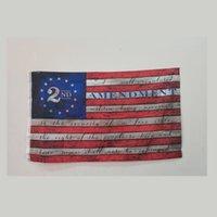 90 cm * 150 cm ABD afiş 2nd değişikliği baskı bayrak eski amerikan anayasa milis bayrakları yüzük asmak polyester yeni varış 5yc g2