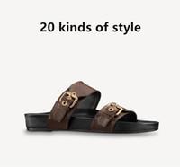 여름 2021 여성 가죽 직조 샌들 플랫폼 웨지 두꺼운 솔 해변 야외 평면 슬라이드 캐주얼 슬리퍼 숙녀 신발 여성 플립 플롭
