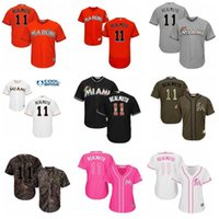 Custom Miami.Marlin verlassen den Namen Nr. 11 J.T.Realmuto Baseball Jersey Männer Frauen Jugendtrikots