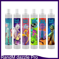 Original Randm Dazzle Pro Disposable Pod Device Kit 1100mAh Battery 2600 Puffs Prefilled 6ml Cartridge Vape Pen With RGB Light