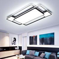مستطيل / مربعة الحديثة أدى سقف lihgts ل غرفة المعيشة أضواء المطبخ غرفة المطبخ lampada الأسود الصمام مصباح السقف مصابيح الإضاءة