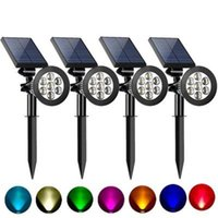 Solar Lamps LED Outdoor Light RGB Variable Lawn Floor IP65 Waterproof Landscape Spotlight Garden Decoration