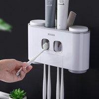 Porta da spazzolino da denti Portabagno Bagno Automatico Dentifricio Dentifricio Distributore A Wall Paste Squeezer Accessori Set