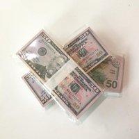파티 50 달러 복제 미국 가짜 돈 어린이 놀이 장난감 또는 가족 게임 종이 복사본 지폐 100pcs / 팩 연습 영화 소품