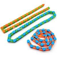 Wacky Tracks Snap y haga clic en Fidget Toys Snake Puzzles Fidgets Toy for Kid Adult Children ADHD Autismo Alivio del estrés