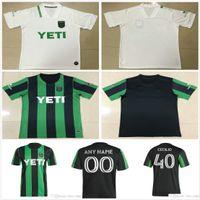 2020 2021 Austin FC soccer jerseys new Inaugural MLS 21 22 Home Black Away White DARIO CONCA KLEBER XAVIER BAEZ Customize Football Shirts
