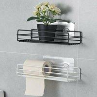Badezimmerlagerorganisation Küche Dusche Caddy Regal Wandmontage Ecke Organizer Rack S7