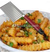الجملة الفاكهة الخضار أداة البطاطا متموجة ارتفع سكين المقاوم للصدأ أداة مطبخ قطع مقشرة أدوات الطبخ الملحقات