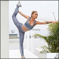 Yoga Esercizio Esperto Abbigliamento All'aperto Sport All'aperto Sport Abiti Gxqil Stampa Leopardo Stampa Sport Vestito Delle Donne Fitness Vestiti Fitness Gym in Gym Set outfit f