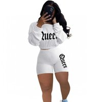 Letter Embroidered Athletic Clothing Two Female Ensemble Tops and Biker Short Clothes 2021 New Casual Fitness Training 2 Suit Assembly Eqyo