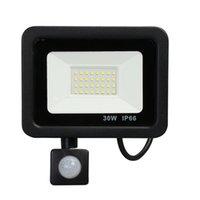 인체 센서 옥외 조명 투광 조명 IP66 방수 10 ~ 300W PIR 유도 램프 지능형 모션 센서 LED 가벼운 하우스 안뜰 차고