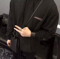 21SS 남성 스웨터 티 후드 바다 웨이브 가슴 편지 남자 옷 짧은 소매 망 셔츠 태그 편지 폴로 새로운 검은 흰색 08