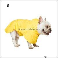 Dog Supplies Home & Gardendog Apparel Raincoat Rain Jacket Pet Clothing Waterproof Hoodie Poncho Outdoor Coat Rainwear Golden Retriever Drop