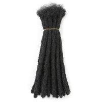수제 Dreadlocks 헤어 익스텐션 블랙 레게 록 빗물 꼰 아프리카 여성과 남성을위한 꼰 머리카락